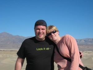 Dave and Cassie in Death Valley
